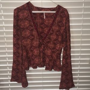 Free people patterned blouse